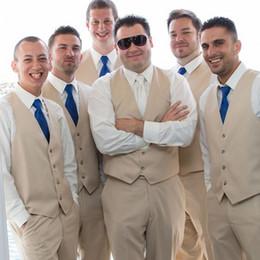 Formal Suits Waistcoat Australia - New Design Groomsmen Vests Wedding Waistcoat For Best Man Slim Fit Formal Groom Vests Two Pieces Men Suit (Vest +Pants)