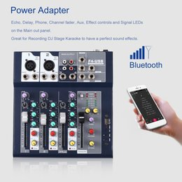 F-4 4 Channel Professional Live Mixing Studio Audio Sound Console Network Anchor Portable Mixing Device Vocal Effect Processor on Sale