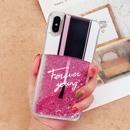 $enCountryForm.capitalKeyWord NZ - Fashion Bling Bling Soft TPU Phone Cases Glitter Liquid Quicksand Clear Case for iPhone 7 8PLUS XR X MAX