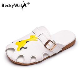 boys closed toe sandals 2019 - Fashion Shoes Cartoon Animals Summer Kids Sandals Slippers Children Boys Girls Shoes Closed Toe Flip Flop Beach CSH880 d