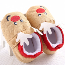 $enCountryForm.capitalKeyWord Australia - Christmas Shoes Toddler Baby Boys Girls Boots Santa Claus&Elk Winter Warm Fur Soft Sole Boots Cute Cotton Prewalker Sneakers