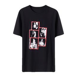 187c31a3e 19SS Diseñador de lujo de manga corta en blanco y negro Impresión de fotos  Tee Street Fashion Negro Casual Hombres Mujeres Pareja Camiseta HFSSTX086
