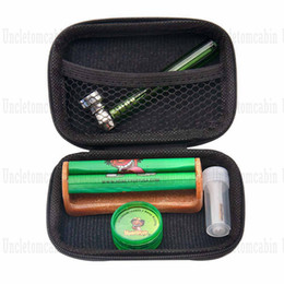 rolling filters smoking Australia - Tobacco Kit Glass Smoking Pipes For Herb + Plastic Tobacco Herb Grinder +Classic Size Acrylic Rolling Machine + Glass Mouth Filter Tip