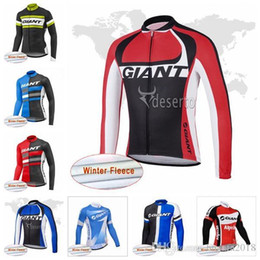 $enCountryForm.capitalKeyWord Australia - GIANT team Cycling Winter Thermal Fleece jersey Cycling Outdoor road mountain Bike Sports Cycling Clothing D2530