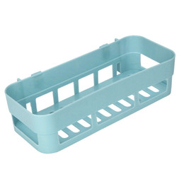 Shower walling online shopping - Plastic Suction Cup Bathroom Kitchen Corner Storage Rack Organizer Wall Phone Shower Shelf Toiletries Removable Holder HX0412