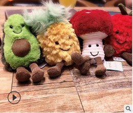 Wholesale ugly animals online – design Cute avocado keychains Plush dolls ugly doll keychain car bag pendant ball key holder green yellow red