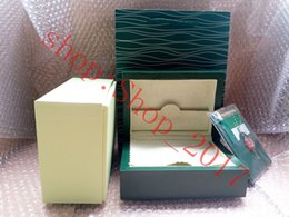 $enCountryForm.capitalKeyWord Australia - Luxury New Style Brand Green Watch Original Wood Box Papers Gift Watches Boxes Leather bag Card For Rolex Box 116600 Watch Box 004