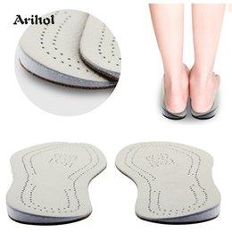 $enCountryForm.capitalKeyWord Australia - Genuine Leather O X leg Orthopedic Insoles Correction Shoe Inserts for Foot Alignment Knock Knee Pain Bow Legs Valgus Varus