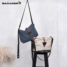 linen cotton canvas NZ - BAMADER 2019 Brand Cotton And Linen Women's Bags Designer Original Luxury Lady With Zipper Canvas Bag High Quality Shoulder Bag