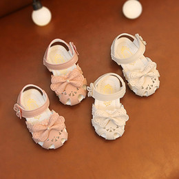 Elegant Flower Girl Shoes Australia - Baby Sandals Kids Sandal for Girl Toddler Infant Kids Baby Girls Elegant Bowknot Flower Princess Shoes Sandals