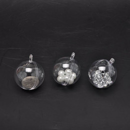 $enCountryForm.capitalKeyWord Australia - 20Pcs Clear Plastic Ball Baubles Sphere Fillable Christmas Tree Ornament Gift Box