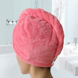 $enCountryForm.capitalKeyWord NZ - 5pcs Women Bath Towels Hair Dry Cap Salon Towel Bathroom Thickening Absorbent Quick-drying Microfiber Towel Head Wrap Hat