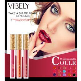 $enCountryForm.capitalKeyWord Australia - vibely Lipstick 15 Color Waterproof Make Up Liquid Lipstick Long Lasting Ultra Matte Lip Gloss Nude Easy To Wear Beauty