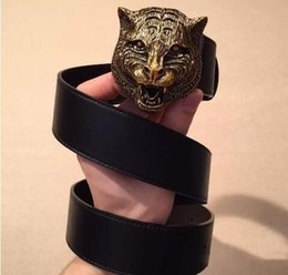 tiger head belt NZ - 2019 Brand designer designs men's luxury tiger head belt, fashion lady's leather belt wholesale, free delivery!