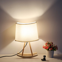 $enCountryForm.capitalKeyWord Australia - American Country Style Creative Table Lamp Bedside Cloth Shade Table Lights For Bedroom Art Wooden Lighting Free Shipping I162
