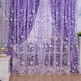 Discount sunflower curtains - 2016 New Sunflowers Pattern Printed Window Voile Curtains 100*200 CM Home Decoration Curtain Living Room Sheer Tulle VB2