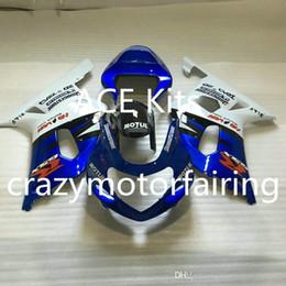 K1 Blue Australia - 3 gifts New SUZUKI GSXR600 750 K1 01 02 03 GSXR 600 GSXR 750 2001 2002 2003 ABS Injection mold White Blue 17H