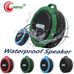 $enCountryForm.capitalKeyWord Australia - C6 IPX7 Outdoor Sports Shower Portable Waterproof Wireless Bluetooth Speaker Suction Cup Handsfree MIC Voice Box For iphone X iPad PC