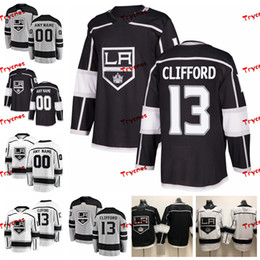 kings jersey 2020 - 2019 Customize Kyle Clifford Los Angeles Kings Stitched Jerseys Custom Alternate Grey Shirts #13 Kyle Clifford Hockey Je
