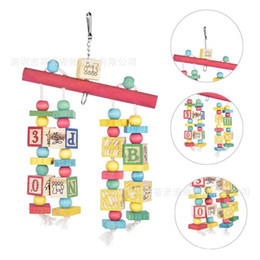 $enCountryForm.capitalKeyWord NZ - In Large Parrot Toys Gnaw Toys Letter Building Block Bites Stand Rod To Climb Ladder Climb The Ladder
