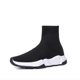 Speed S online shopping - Brand New Triple S Casual Shoes Luxury Brand Designer Sock Shoes Paris Speed Trainer Triple Black Fashion Socks Sneakers Size