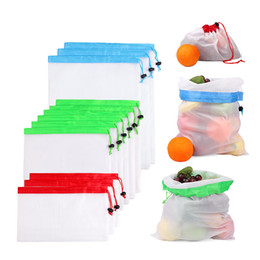 $enCountryForm.capitalKeyWord Australia - Reusable Cotton Mesh Grocery Shopping Produce Bags Eco-friendly Polyester Fruit Vegetable Bags Hand Totes Home Toy Storage Bag Laundry Bag