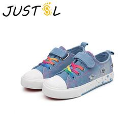 $enCountryForm.capitalKeyWord NZ - JUSTSL Spring 2018 children's casual shoes denim fashion sneakers teenage boys girls sport shoes size 25-37
