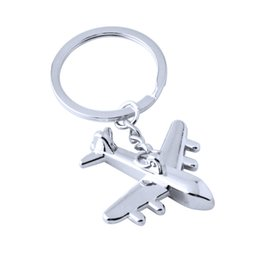 $enCountryForm.capitalKeyWord NZ - Zinc Alloy Keychains Holder New Plane Figure Keychain Mini Plane Model Key Ring for Men Key Holder Key Chain Charms Airplane Keyring
