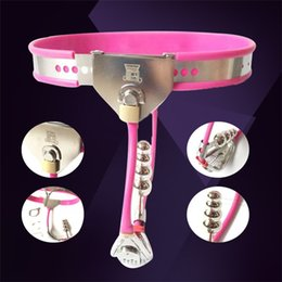 Chastity Device Sales Australia - Hot sale Female Chastity Belt Devices With Defecation And Plug Hole Bondage Invisible Chastity Restraints Panties Adult Game BDSM Toy