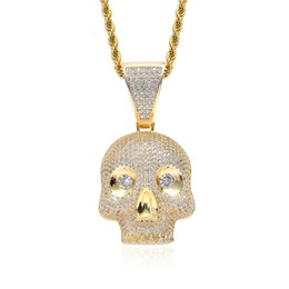 $enCountryForm.capitalKeyWord UK - 2019 Hot Hip Hop Pendant Necklace Men Jewelry Hiphop Personality Skull Gold Long Chain Necklaces Unisex Female Male Gifts