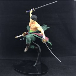 one piece toys zoro NZ - New Anime One Piece 26cm BWFC Champion Roronoa Zoro PVC Action Figure Collection Model Toys Gift