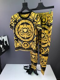 Mens Plus Size Silk Shirts Canada - Hot Sale Designer Mens Tracksuit Jewel collar mens 2019 luxury designer clothes Pants mens tracksuits Plus Size M-5XL