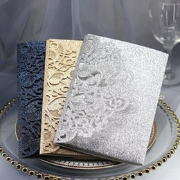Engagement Party Packs Australia - 10pcs pack Laser Cut Wedding Greeting Invitation Card Cover 18x12.5cm Personalized Hollow Business Engagement Party Supplies