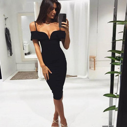 Sexy Red Suits Australia - 2019 Red black plunge v neck straps bandage dress summer autumn spring Sexy evening Pay Bodycon wholesale womens Dress + suit