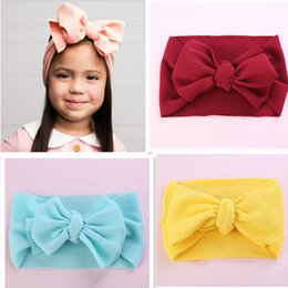 Discount hair color diy - DIY 2019 new baby designer headband large bowknot Girls designer headbands hair bows baby headbands girl headbands baby