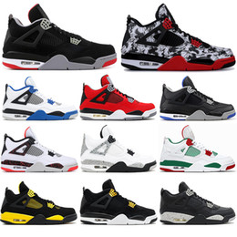 $enCountryForm.capitalKeyWord Australia - With socks 2019 High Quality 4 4s Basketball Shoes BRED ROYALTY tattoo BLACK CAT ALTERNAT MOTORSPORT OREO Men Sports Sneakers Shoes 40-47