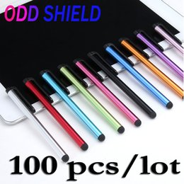 4.7 Capacitive Australia - cheapest metal touch phone stylus touch pola pen 100pcs lot for samsung xiaomi redmi For apple iphone 4 4s 5 5s 6 7