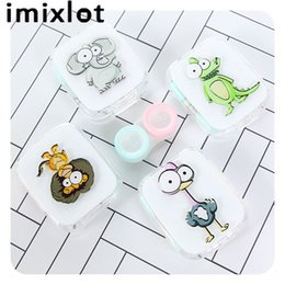 Symbol Of The Brand Lymouko Hot Sale Cute White Color Panda Holder Contact Lens Case With Mirror Portable Contact Lenses Box For Gift Eyewear Accessories Men's Glasses