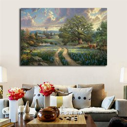 Thomas Kinkade Paintings Framed Australia - Thomas Kinkade Country Living HD Poster Canvas Painting Oil Framed Wall Art Print Pictures For Bedroom Modern Home Decoracion Framework