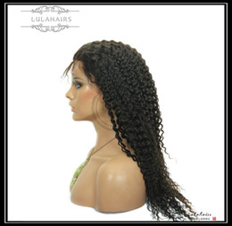 Full Lace Wig Curly 6a UK - Lulahairs 6A Curly Bubble hair Full lace front 360 lace Front Wig Peruvian Human Hair Wigs & Human Virgin hair For Black Women