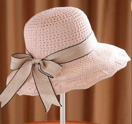 af863b1c New Cotton Knitted Spring and Summer Female Sunshade Cap Korean Floating  Pot Cap Folding Beach Cap