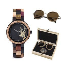 Men Watch Gift Box Australia - BOBO BIRD Quartz Watch Men reloj mujer Elk Engraving Wooden Women Watches in Wood Box relogio masculino Great Gift for Lover