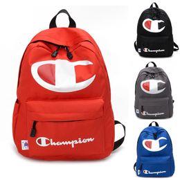 Laptops 15.4 online shopping - Champions Backpack Women Men Laptop Double Shoulder Bags Letter Print Backpacks Large Capacity Travel School Bag cm Color C422
