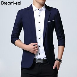 Mens Blazers Jackets Sale Australia - Fashion Mens Casual Blazer Single Button Dress Blazer Jacket Men Slim Fit Mens Suit Jacket Solid Coat Men Hot Sale 2019 New Y