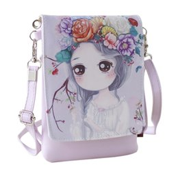 zippers for bags Australia - Lovely Cute Cartoon Wallet Small Zipper Coin Purse Fashion New Girl Wallet Messenger Crossbody Bag Designed for Children Kids
