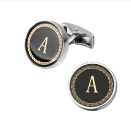 Discount cufflinks letters - New Arrival Fashion Letter A D R H M Cufflinks The English alphabet Cuff Links Men Shirt Charm Cufflinks Wholesale Free