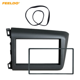 $enCountryForm.capitalKeyWord Australia - FEELDO 2-Din Car CD DVD Fascia Frame for HONDA Civic(LHD) 2011-2013 Radio Dash Panel Frame Fitting Adaptor Mounting Trim Kit #4936