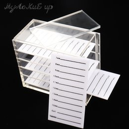 Wholesale False Eyelashes Storage Box Layers Acrylic Pallet Lash Holder For Eyelash Extension Individual Lash Volume Display Stand Tools C19032801