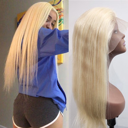 $enCountryForm.capitalKeyWord Australia - AiChen 613 full lace wig human hair brazilian lace front wigs honey blonde color 613# straight lace front wigs with baby hair free shipping