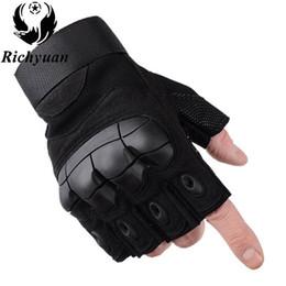 $enCountryForm.capitalKeyWord NZ - Tactical Fingerless Gloves Army Shooting Paintball Bicycle Motorcross Combat Hard Knuckle Half Finger Gloves